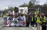 PEACE ACTIVISTS TAKING PART IN PEACE DEMO AT FASLANE...........