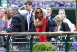 Wimbledon Tennis Championships 2011. Pippa Middleton arrives on Centre Court with her boyfriend ...